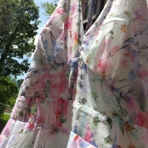 City Chic Dresses - NWTCity chic dreamy pastel floral white maxi dress